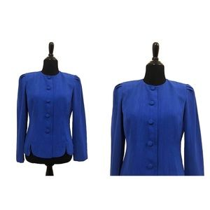 Leslie Fay | Vintage Blue Blazer Blouse